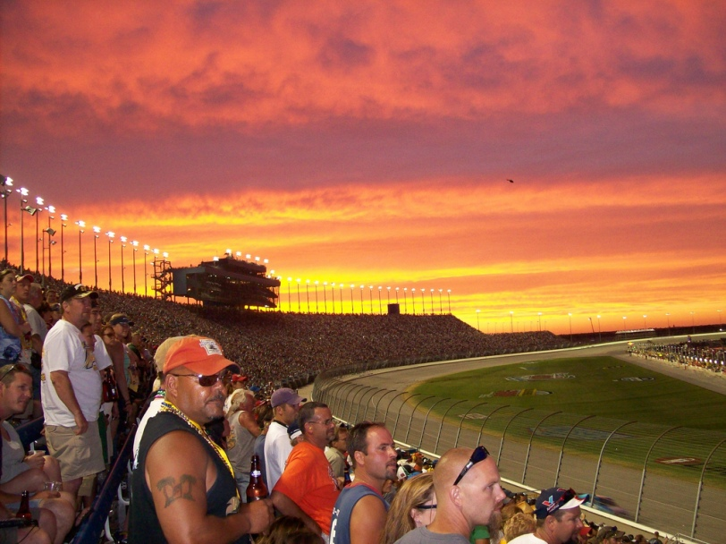 Hopefully NASCAR fans will see clearing skies today following the rain at Chicagoland Speedway (Photo by treobenny via Flickr.com)