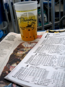 Preakness program and a  Black-Eyed Susan. (Photo courtesy of apium via Flickr.com)